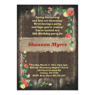 Invitación del cumpleaños de las mujeres elegantes