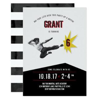 Invitación del cumpleaños de los artes marciales