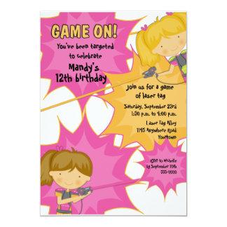 Invitación del cumpleaños de los chicas de la