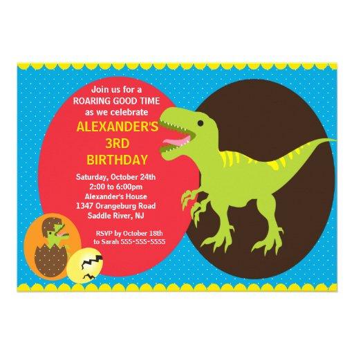 Tarjetas De Invitación De Dinosaurios Gratis Imagui