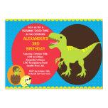 Invitación del cumpleaños de los dinosaurios de la