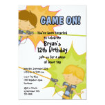 Invitación del cumpleaños de los muchachos de la invitación 12,7 x 17,8 cm