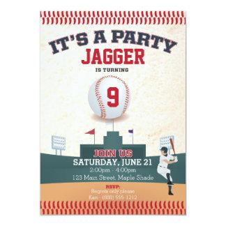 Invitación del cumpleaños de los niños (béisbol)