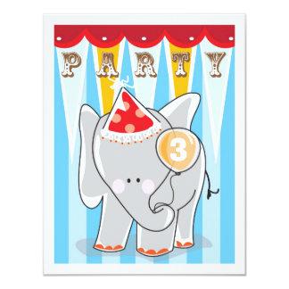 Invitación del cumpleaños de los niños - circo invitación 10,8 x 13,9 cm