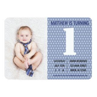 Invitación del cumpleaños de los niños masculinos