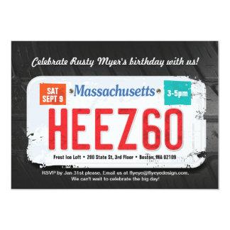Invitación del cumpleaños de Massachusett del