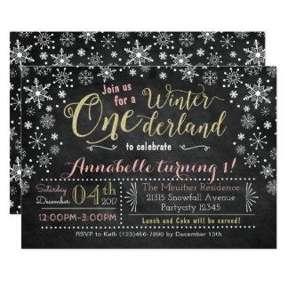 Invitación del cumpleaños de ONEderland del