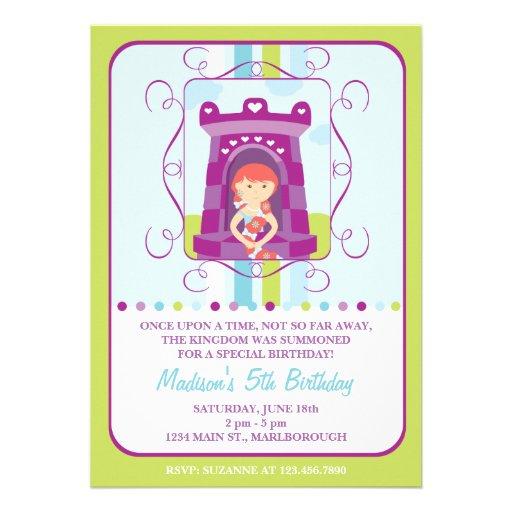 Invitación del cumpleaños de Rapunzel