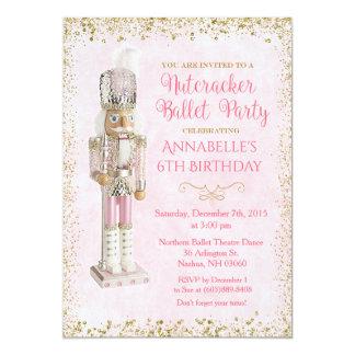 Invitación del cumpleaños del ballet del