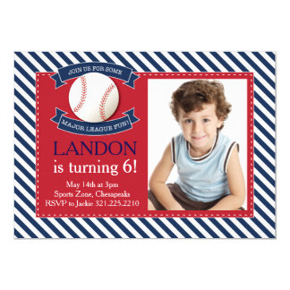 Invitación del cumpleaños del béisbol de la