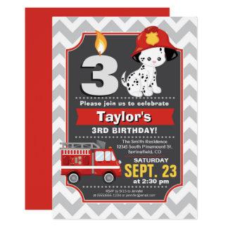 Invitación del cumpleaños del bombero