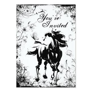 Invitación del cumpleaños del caballo, de las