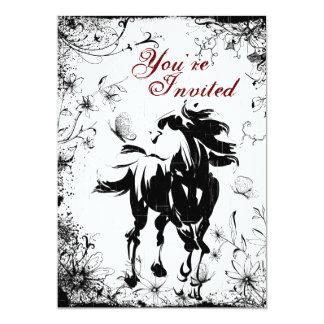 Invitación del cumpleaños del caballo, de las invitación 12,7 x 17,8 cm