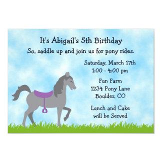 Invitación del cumpleaños del caballo del fiesta