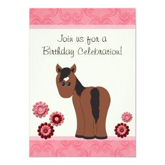 Invitación del cumpleaños del caballo y de las