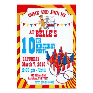 Invitación del cumpleaños del carnaval