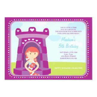 Invitación del cumpleaños del castillo de Rapunzel
