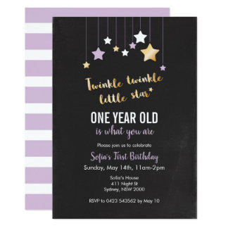 Invitación del cumpleaños del centelleo del