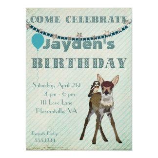 Invitación del cumpleaños del cervatillo y del