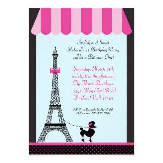 Invitación del cumpleaños del chica de la torre invitación 12,7 x 17,8 cm