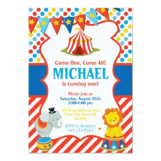 Invitación del cumpleaños del circo - tema del