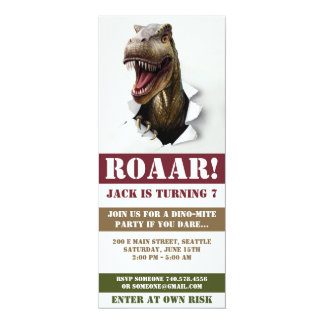 Invitación del cumpleaños del dinosaurio