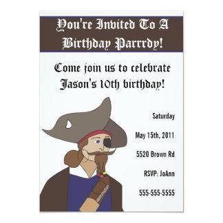 Invitación del cumpleaños del ejemplo del pirata