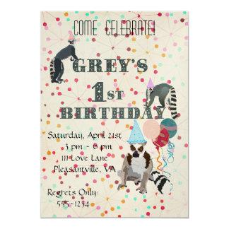 Invitación del cumpleaños del extracto de la invitación 12,7 x 17,8 cm