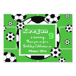 Invitación del cumpleaños del fútbol