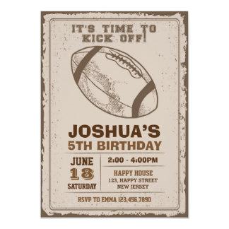 Invitación del cumpleaños del fútbol americano