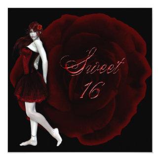 Invitación del cumpleaños del gótico del dulce 16 invitación 13,3 cm x 13,3cm