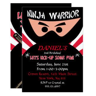 Invitación del cumpleaños del guerrero de Ninja