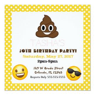 Invitación del cumpleaños del lunar de Emoji