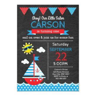 Invitación del cumpleaños del marinero
