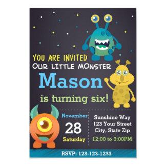 Invitación del cumpleaños del monstruo (muchacho)