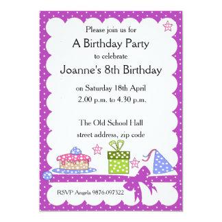 Invitación del cumpleaños del niño del lunar invitación 12,7 x 17,8 cm