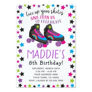 Invitación del cumpleaños del patín de ruedas