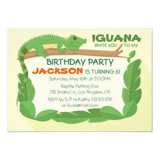 Invitación del cumpleaños del reptil del lagarto
