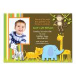 Invitación del cumpleaños del safari de selva
