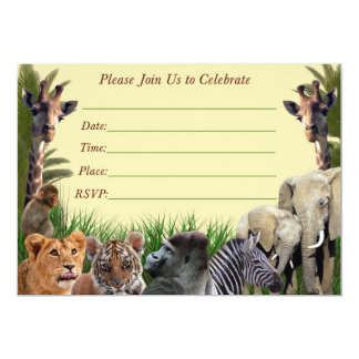 Invitación del cumpleaños del safari, invitación