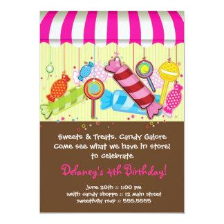 Invitación del cumpleaños del Shoppe del caramelo