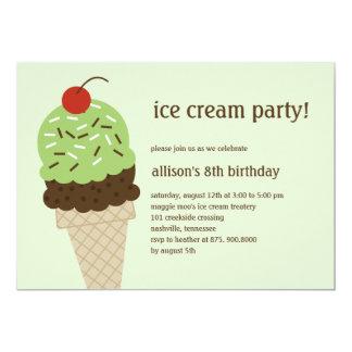 Invitación del cumpleaños del Shoppe del helado -