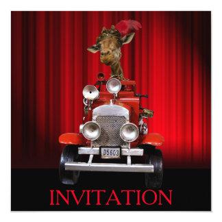 Invitación del cumpleaños del teatro del fiesta de