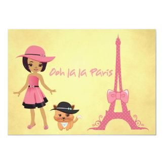 Invitación del cumpleaños del tema de París