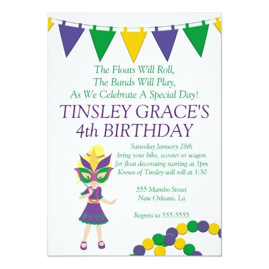 Invitación del cumpleaños del tema del carnaval