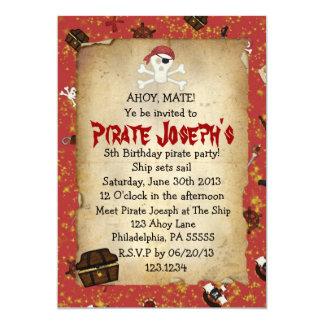 Invitación del cumpleaños del tema del pirata