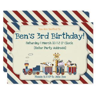 Invitación del cumpleaños del tren