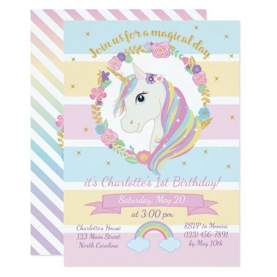 Invitación del cumpleaños del unicornio | Zazzle.es