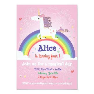 Invitación del cumpleaños del unicornio - ROSA