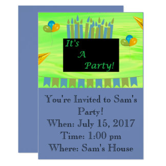Invitación del cumpleaños - es un fiesta